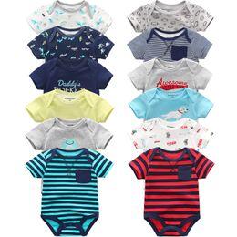 $enCountryForm.capitalKeyWord NZ - Super Cotton Baby Bodysuit Fashion 6pcs lot Newborn Body Baby Suits Short Sleeve Overalls Infant Boy Girl Jumpsuit Kids Clothes MX190720