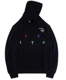 Discount men short hoodies - Travis Scott Astroworld Hoodie Embroidered Mens Designer Hoodies Hip Hop Rappers Sweatshirt Casual Male Hooded Pullover