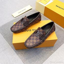 Shoe Models For Men Australia - New! 27 model brand luxury New mens dress shoes Classic embroidery horsebit loafers designer shoe Fashion driving shoes for men size us6