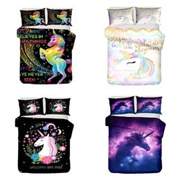 $enCountryForm.capitalKeyWord Australia - 2019 New Unicorn Pattern Bedding Sets For Comforter Cartoon Baby Super Size Bed Linen Set Cover Set Linens New