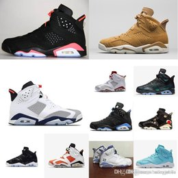 e7e737e1f9d4 Cheap Mens Jumpman 6 VI basketball shoes j6 infrared Black 3M Alternate Red  White Tinker aj6 air flights sneakers boots 6s with box for sale
