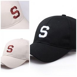 96263635 Letter S Embroidery Baseball Cap Sunshade Street Hip Hop Snapback Outdoor  Men And Women Fashion Hats Black Portable Hot Sale 6ly I1