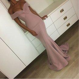 2019 шикарные пыльные розовые длинные вечерние платья сексуальное русалка арабское театрализованное платье с плеча длинные выпускные платья на Распродаже