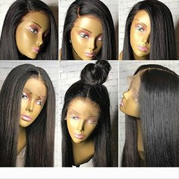 wig for ponytail UK - 360 lace Frontal Wig for High Ponytail and Updo 180% Density Human Hair Wigs for Women with Baby Hair Natural Black Hair 360