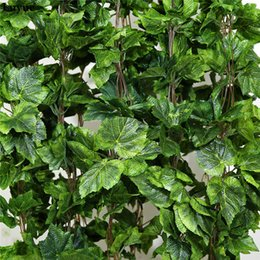$enCountryForm.capitalKeyWord Australia - Luyue Plants 12pcs Plant Artificial Flower Silk Grape Leaf Hanging Garlands Faux Vine Wedding Decoration For Home Q190522