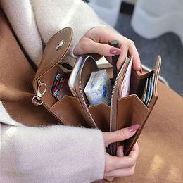 $enCountryForm.capitalKeyWord Australia - New PU Leather Cell Phone Bag Fashion Small Smartphone Women Handbag 7 Colors Messenger Crossbody Bag Pocket Zipper Card Purse