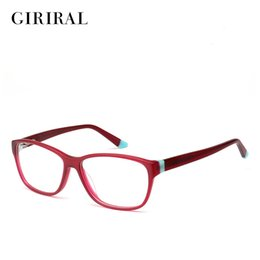 myopia computer NZ - Acetate women glasses frame computer brand designer clear optical myopia spectacles