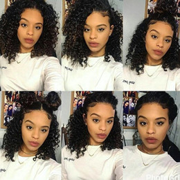 Deep Curly Indian Lace Wig Australia - Lace Front Human Hair Wigs For Black Women Pre Plucked 150% Density Peruvian Curly Human Hair 13x4 Lace Front Wigs Deep Wave Loose Wave