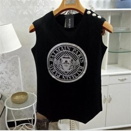 $enCountryForm.capitalKeyWord Australia - Hip Hop Coin Pattern Women Shirts Fashion Design Sleeveless Girls Luxury Tops Birthday Gifts For Female Brand Tees
