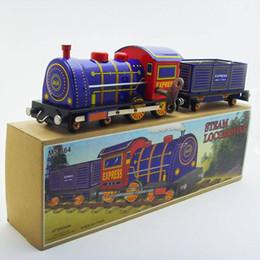 $enCountryForm.capitalKeyWord Australia - [Funny] Adult Collection Retro Wind up toy Metal Tin Steam locomotive train Transport train Clockwork toy figure vintage toy