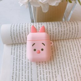$enCountryForm.capitalKeyWord Australia - Mytoto 3D Cartoon pooh Piglet Earphone Headset Accessories Silicone case For Apple Airpods 1 2 Wireless Bluetooth Headset bags