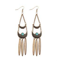 $enCountryForm.capitalKeyWord UK - Exquisite Alloy Ring Bohemian Style Female Eardrop Ear Hook Luxury Ear Pendants Ladies Earbob Female Jewelry