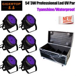 $enCountryForm.capitalKeyWord Australia - 6IN1 Road Case Pack Purple LED Up Lighting Violet LED Par Lights 3W x 54 LED DMX 512 Par Can Stage Lighting TIPTOP Par Cans