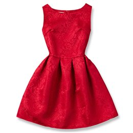 $enCountryForm.capitalKeyWord UK - Summer A-line Kids Baby Girl Dress Princess Red Color Children's clothes 6 12T Teenager Causal Daily School School Wear