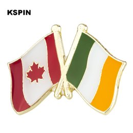 Apparel Sewing & Fabric U.s.a Ireland Friendship Flag Metal Pin Badges For Clothes In Badges Button On Brooch Plating Brooches For Jewelry Xy0271 Home & Garden