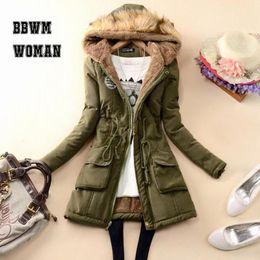 $enCountryForm.capitalKeyWord Australia - Winter Cheap 8 Color Can Choose Women Parkas 2019 Lining with Villus Black Army Green Female Jacket ZO1689