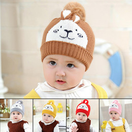 ddf45504 Lovely Baby Toddler Cotton Hat Cute Winter Warm Beanie Cap For Baby Cute Girl  Boy Infant Pompon Winter Hat