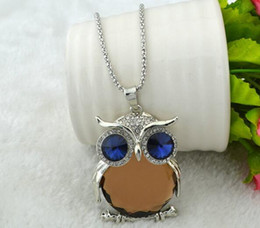 $enCountryForm.capitalKeyWord Australia - New Style Women Necklace Owl Pendant Rhinestone Sweater Chain Long Necklaces Jewelry Ornaments Exquisite Torque Trinket 5 Colors