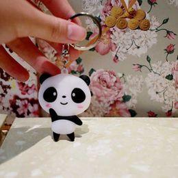 $enCountryForm.capitalKeyWord Australia - Fashion Simple Cute Cartoon Panda Keychain Keyring Bag Handbag Hanging Key Ring Chain Women Jewelry Gift