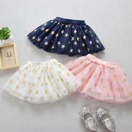 $enCountryForm.capitalKeyWord NZ - 2018 Fashion Cute Baby Girls Summer Tutu Skirts Star Print Mesh Princess Girls Ballet Dancing Party Skirt Cotton Clothing GA690