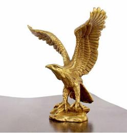"China Figure Australia - New +China Bronze Brass Statue EAGLE Hawk Figure figurine 4.5""High"