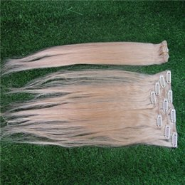 full head brazilian human hair UK - Brazilian Remy Straight Hair Clip In Human Hair Extensions 6A 9 Pieces Set Full Head Remy Hair Extension Clip