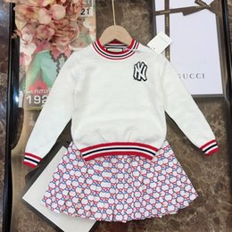 Korean male suits online shopping - fenash10 designer luxury Suit Korean Children Male Girl Athletic Wear Twinset Baby Kids Clothing Sweater Set long Sleeve Clothes