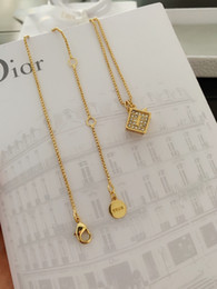 Necklaces Pendants Australia - Block full drill + Necklace 2019 new fashion accessories Classic Gold Necklace 060806