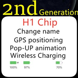 Wholesale Newest High Air 2 H1 chip Renamed headset 2nd Generation Wireless Charging Bluetooth Earphones GPS Positioning and Galaxy Buds headphone NEW