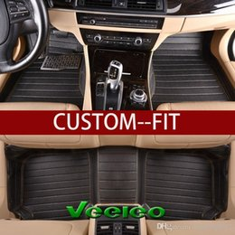 $enCountryForm.capitalKeyWord NZ - Veeleo+Custom Fit 6 Colors Leather Car Foot Floor Mats for Tesla Model 3 Waterproof Anti-slip Full Set Car Mats 3D Carpets Liner