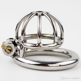 Super pequeno Stainless Steel Male Chastity Dispositivo de pica Cage, virgindade Lock, Penis Lock, Cock Ring, Cinto de castidade, CP-A282