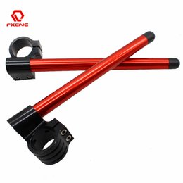 motorcycle risers NZ - RED 31 33 35 36 37 41 43 45 48 50 51 52 53 54mm Motorcycle Handlebar Rised Riser Clipon Clip On Clip-ons Fork Handle Bar Clamp