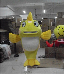 big fish cartoons Australia - High quality hot sale big yellow fish Mascot Costume Adult Halloween Birthday party cartoon Apparel Costumes free shipping