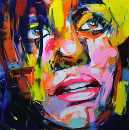 $enCountryForm.capitalKeyWord Australia - Hand painted Palette knife painting portrait Palette knife Francoise Nielly Face Abstract Oil painting Impasto figure on canvas Decor FN88