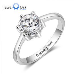 silver ring 925 engraved 2019 - Simple Accessorise Personalized Gift Engraved Name 925 Sterling Silver Rings For Women Anniversary Jewelry(JewelOra RI10