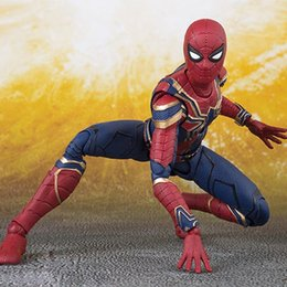 Spider Man Action Figures For Australia - 16CM Movie Avengers4 Infinity War Iron Spider Man Action Figure Cartoon Anime Movable PVC Figures Toy Model Doll for Kids Birthday Gif 5pcs
