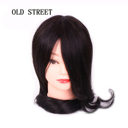 $enCountryForm.capitalKeyWord Australia - Hairstyles Training Manikin Heads 22inch Mannequin Head 70% Human Hair + 30% Synthetic Hair Perm Hair For Hairdresser Styling