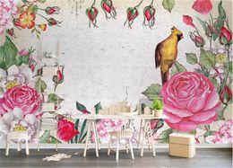 $enCountryForm.capitalKeyWord Australia - Custom 3D Photo Wallpaper Mural Living Room Bed Room Sofa TV Backdrop mural small fresh pattern rose Picture Wallpaper Sticker Home Decor