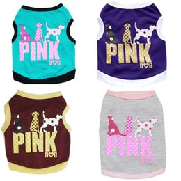 Clothes For Small Teddy Australia - PINK Dog Shirts Summer Pet dog Clothes Vest T SHIRT FOR Small dog Clothing XS for Chihuahua Teddy vest Coat