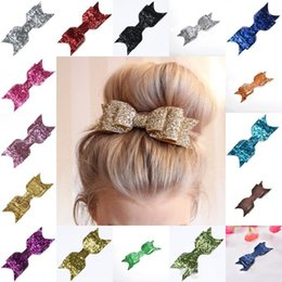 women hair bow clips Australia - 3.54Inch Boutique Sequin Big Bow Hair Clips Barrette Headbands for Baby Girls Women Hairpin with Alligator Clip Hair Accessories Gift