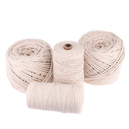 string 5mm Australia - 1 2 3 4 5mm 100-220M Cotton Twisted Cord Beige Macrame String DIY Cord Crafting Rope Decor Handmade Tying Thread Braided Wire