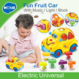 $enCountryForm.capitalKeyWord Australia - Hola 516 Baby Toys Electronic Car With Music & Light & Puzzle & Fruit Shape Sorters Learning Educational Toys For Children J190525