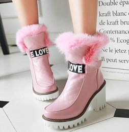 $enCountryForm.capitalKeyWord Australia - New Arrival Hot Sale Specials Super Fashion Influx Martin Cowgirl Beauty Rabbit Hair Princess Leather Real Rabbit Furry Ankle Boots EU33-43
