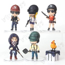 6Pcs Set PUBG Player Unknowns Battle Grounds Game Toys Playerunknown's Battlegrounds PVC Model Dolls For Gift Big Size 8CM on Sale