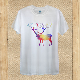 $enCountryForm.capitalKeyWord Australia - Geometric elk T-shirt design hipster fashion Vector deer men women fittedFunny free shipping Unisex Casual Tshirt