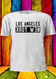 $enCountryForm.capitalKeyWord Australia - LOSANGELES NEW YORK USA NEWYORK T-shirt Vest Tank Top Men Women Unisex 1371 Short Sleeve Plus Size t-shirt colour jersey Print t shirt
