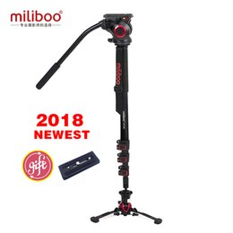 tripod manfrotto Canada - wholesale MTT705BS Aluminum Carbon Portable Trip Camera Monopod with Hydraulic Head Tripod stand Manfrotto