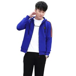 4e09cfaad5c6 Hoodies Sweatsuits For Men 98818 Full Zipper Hoodies Jackets Short Sleeve T  shirt Jogger Pants 4XL Men Running Clothing Set Black Red BLue