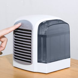 air cool fans 2019 - 2019 New mini portable air conditioner Water Cooled Fan USB Office Desktop Handheld Fan Water Fan Portable Air Condition