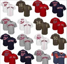 salute service jerseys NZ - Mens Women Youth Red Sox Jersey 16 Benintendi 34 Ortiz 50 Betts Baseball Jersey White Grey Navy Blue Red Salute to Service Players Weekend